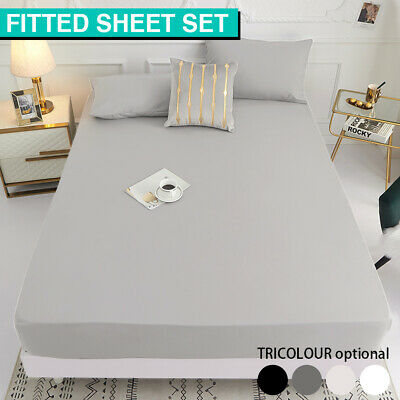 AU19.99 • Buy Ultra Soft Bed Sheets Fitted Sheet Set Pillowcase King Single/Double/Queen/King