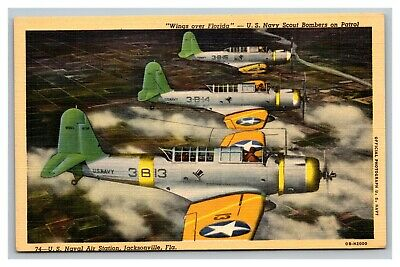 $17.97 • Buy Vintage 1940's Military Postcard U.S. Navy Scout Bombers - Wings Over Florida
