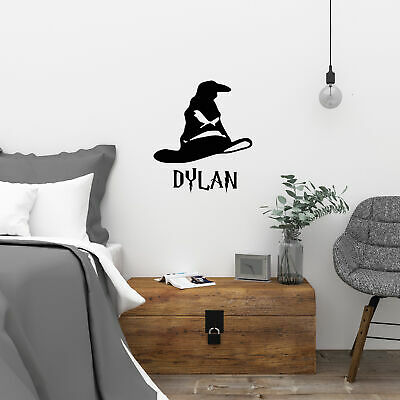 £4.99 • Buy Personalised Harry Potter Sorting Hat Vinyl Wall Sticker Decal Wall Art Any Name