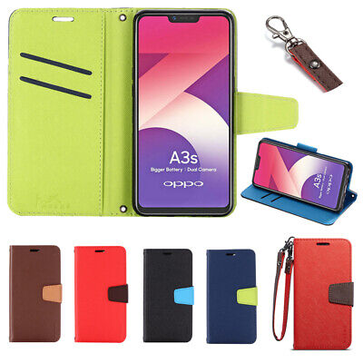 AU9.99 • Buy For Oppo Reno5 R17 F11 Find X2Pro Wallet Case Leather Flip Card Shockproof Cover