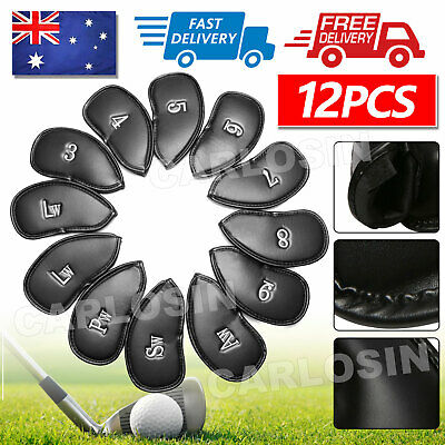 AU18.45 • Buy 12PCS Golf Club Iron Head Covers Set PU Leather Putter Headcover 3-SW Big Number