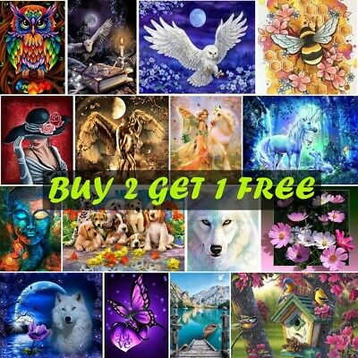 £5.99 • Buy 5D Full Drill DIY Diamond Painting Embroidery Art Cross Stitch Kits Gifts Gift