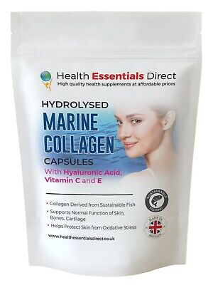 £8.99 • Buy Hydrolysed Marine Collagen Complex Capsules With Hyaluronic Acid, Vitamin C + E
