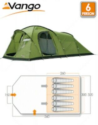 Vango Orchy 600 6 Person  Camping Tent And Footprint Groundsheet • 165£