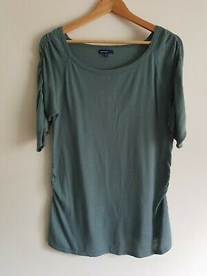 £4 • Buy Gap Maternity Size L Short Sleeve Fine Knitted Thin Top - Green