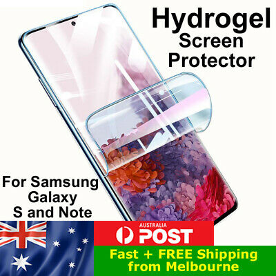 AU3.49 • Buy HYDROGEL Screen Protector For Samsung S8 S9 S10 S20 S21 Note 9 10 20 FE Ultra