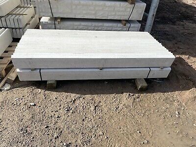 """£10 • Buy 6x6"""" Smooth Reinforced Concrete Fencing Gravel Boards/ Base Panels - New"""