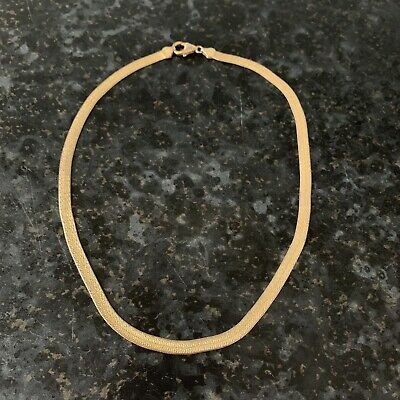 £25 • Buy 18ct Gold Plated Flat Snake Chain Necklace Collar Choker