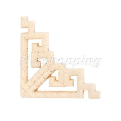 AU5.89 • Buy 1/4Pcs Wood Carved Applique Onlay Woodcarving Corner Decal Home Furniture Decor
