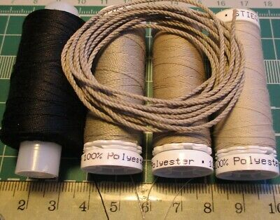 £15.60 • Buy Threads For Rigging Ship Model Accessories Kit 4 Reels Polyester 100%