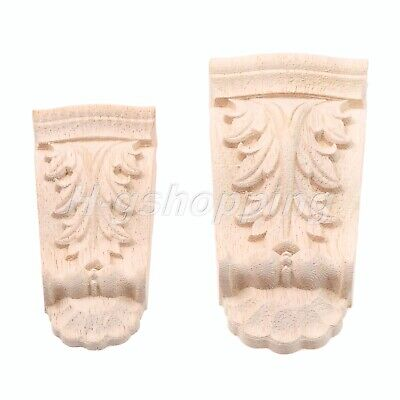 AU5.39 • Buy Classical Rubber Wood Carved Corbels Decal Furniture Onlay Applique Home Decor