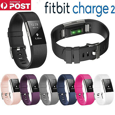 AU5.99 • Buy Silicone Replacement Watchband For Fitbit Charge 2 Band Smart Bracelet Strap