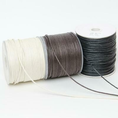 £3.50 • Buy WAXED CORD THREAD 1mm / 2mm Bead Stringing Bracelet Necklace Making Cords