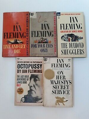 $25 • Buy 5 Paperbacks By Ian Fleming James Bond 007 Octopussy Majesty Secret Service