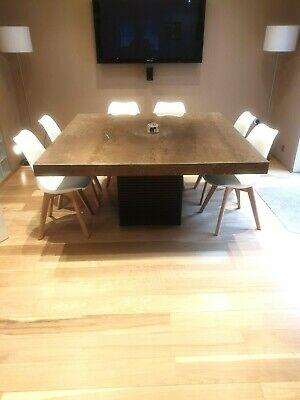 £1000 • Buy Luxury Handmade Solid Marble/Quartz Square Dinning Table - 8 Seater