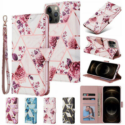 AU12.01 • Buy Case For IPhone 12 Pro Max SE 2020 11 8 7 Plus Marble Leather Stand Wallet Cover