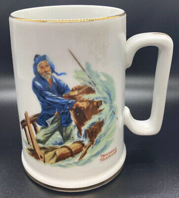 $ CDN3.72 • Buy Norman Rockwell Museum Braving The Storm Vintage Coffee Mug Collectible