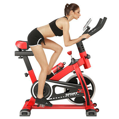 ULTRAPOWER Exercise Bike Indoor Cycling Home Fitness Cardio Workout Machine • 169.99£