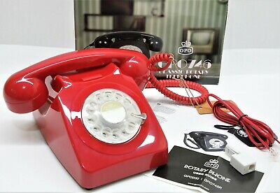 GPO 746 Retro 1960s Style Rotary Dial Telephone In Red • 24.99£