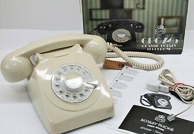 £24.99 • Buy GPO 746 Retro 1960s Style Rotary Dial Telephone In Ivory