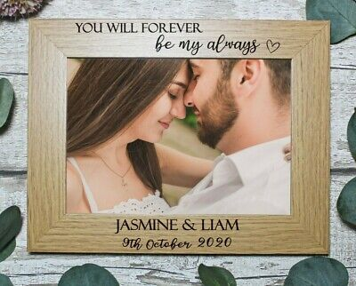 £13.97 • Buy Personalised Photo Frame   Engagement   Wedding  Couple   For 7x5 Or 6x4 Picture