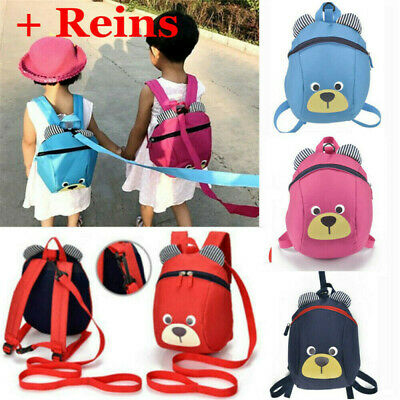 Kids Toddler Walking Safety Harness Backpack Security Strap Bag With Reins • 5.99£