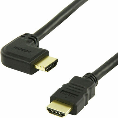 £3.99 • Buy Short 50cm HDMI Cable High Speed Right Angled 90-Straight Connector Male Lead TV