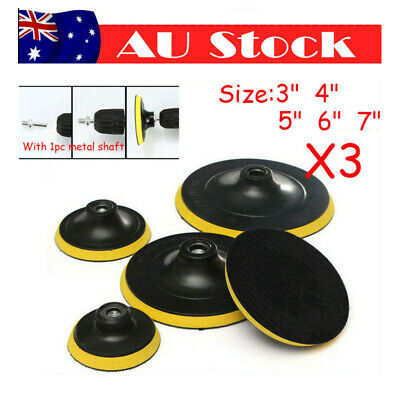 AU19.65 • Buy 3'' 6'' 5'' 7'' Backing Backer Pad Discs Wheel M14 X3 Angle Grinder Sanding Disc