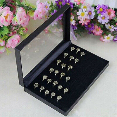 AU12.09 • Buy Velvet Jewelry Ring Display Organizer Case Tray Holder Earring Storage Bt3