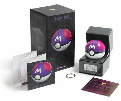 IN HAND Master Ball Pokemon Official The Wand Company Replica Light Up LED Model • 550.98£