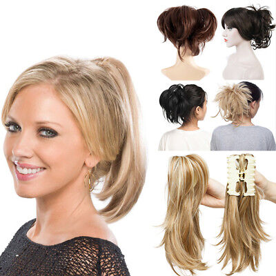 £8.82 • Buy UK Women Lady Clip In Messy Ponytail Pony Tail Hair Extension Claw On Hair Piece