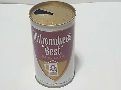 $9.99 • Buy MILWAUKEE'S BEST,Miller Brewing Co,Straight Steel EMPTY Old Beer Can