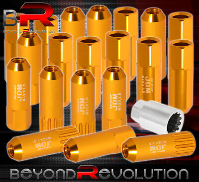 $29.99 • Buy For Geo M12X1.5mm Locking Lug Nuts Open End Extend Aluminum 20 Piece Set Gold