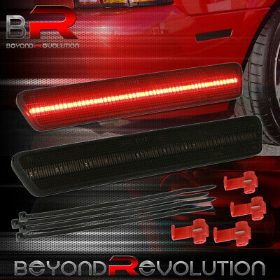 $36.99 • Buy For 1999-2004 Mustang SN-95 Red LED Smoked Rear Bumper Side Marker Light Lamp