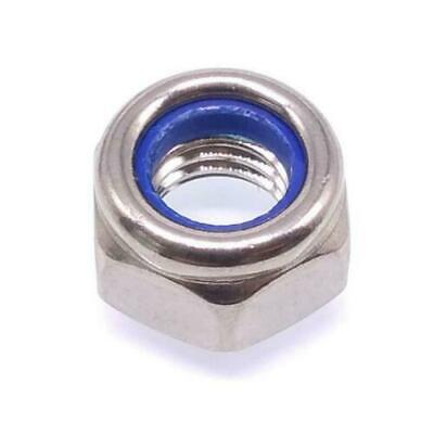 $9.99 • Buy Qty 150 M3 Hex Locknuts Nylock Nylon Insert Stainless Steel Nut Usa Nh Expedited