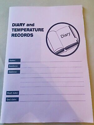 £22.95 • Buy Temperature Log Book 6 Months Record Book For Food Hygiene And Safety 2021 H