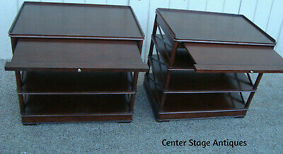 $525 • Buy 60617 PAIR QUALITY Bookcase S Nightstand Console  Table Stands W/ Pull Outs