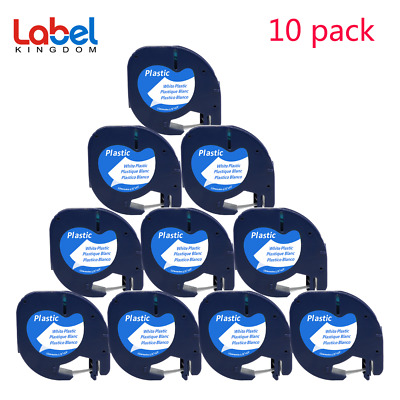AU24.30 • Buy 10PK Compatible Dymo LetraTag Refills 91331 Plastic Label Tape LT-100H 12mm X 4m
