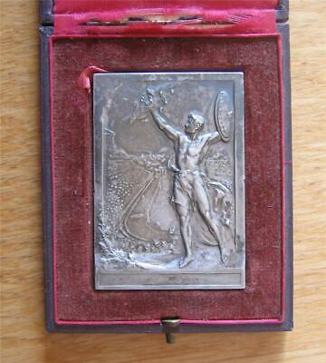 £155.81 • Buy Rare Silver-Plated Bronze Medal Plaque 1906 Olympic Games Athens By Vannier