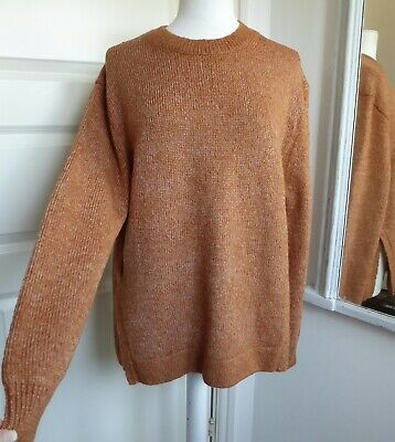 OTHER STORIES Jumper Wool Alpaca Mix Chunky Knit Slouchy Oversized Tan Marl M • 25.95£