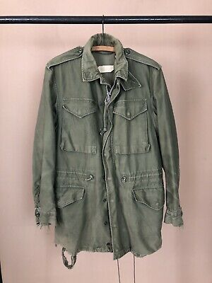 $75 • Buy Vtg US Army M-51 Military Mens Field Jacket Olive Green OG-107 M-1951 Small