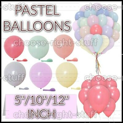 £4.39 • Buy Pack Of 100 Pastel Latex Balloons Macaron Candy Many Colour Party 5''/10 /12 All