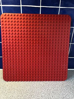 £11.99 • Buy LEGO DUPLO LARGE RED SQUARE BASE BOARD 24x24 STUD Curved Corners