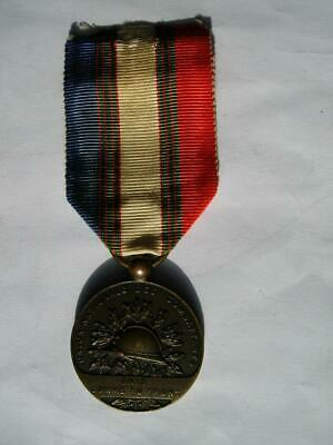 £19.99 • Buy WWI French Bronze Medal Military Merit UNC Union Nationale Combatants 1914 1918