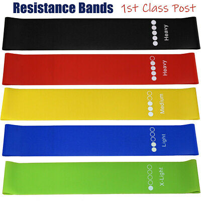 $ CDN10.24 • Buy Resistance Bands Loop Kit Weights Home Fitness Latex Gym Workout Set Or Singles