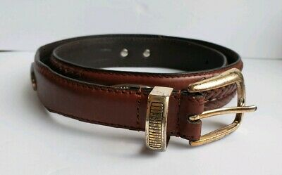 $9.95 • Buy Mens Fossil Leather Western Concho Belt Braided 1  Brown Size 34