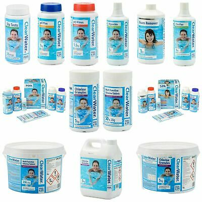£34.98 • Buy ClearWater Lay-Z-Spa Swimming Pool Hot Tub Chemicals Accessories