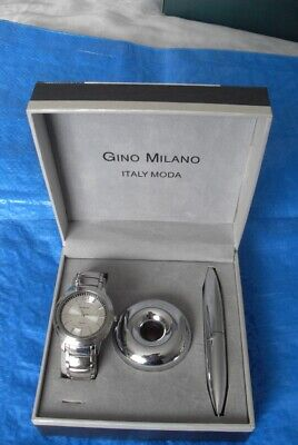 £8.99 • Buy VINTAGE GINO MILANO WRIST WATCH & PEN SET - Father's Day Gift#3