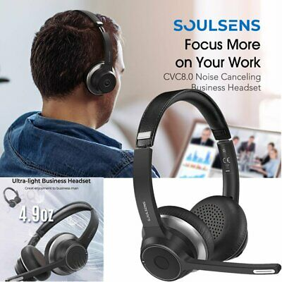 £34.99 • Buy Soulsens Wireless Bluetooth 5.0 Headset Over Ear Headphone For Truck Call Center