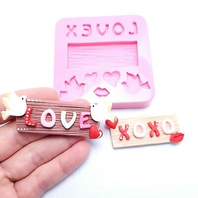 £7.26 • Buy Love Xoxo Sign With Doves Valentines Day Silicone Mold MS122